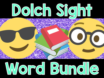 Dolch Sight Word Cards Bundle- Emoji Theme