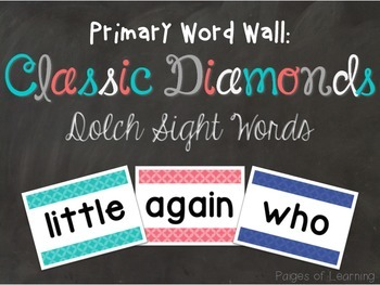 Dolch Sight Word Cards: Classic Diamonds Edition