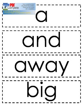 Dolch Sight Word Cards: Pre-primer, Primer, Level 1, Level
