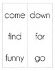 Dolch Sight Word Flash Cards, Pre-Primer