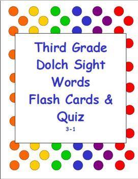 Dolch Sight Word Flash Cards & Quiz