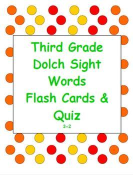 Dolch Sight Word Flash Cards & Quiz 3-2