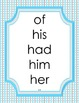 Dolch Sight Word Flash Cards and Posters (First Grade Words)