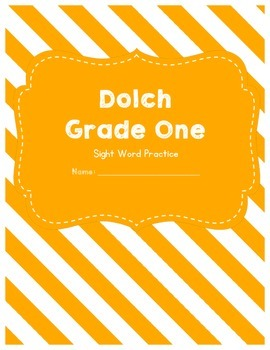 Dolch Sight Word Grade One Worksheets