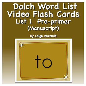 Dolch Sight Word List 1 (Pre-primer) Video Flash Cards (Ma