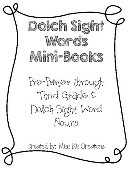 Dolch Sight Word Mini Book