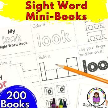 Dolch Sight Word Mini Book Bundles