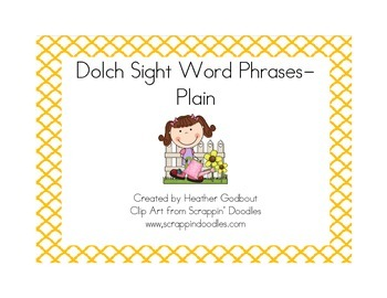 Dolch Sight Word Phrases-Plain