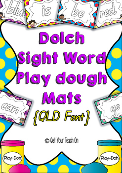 Dolch Sight Word Play Dough Mats {QLD Font} Pre-Primer, Pr