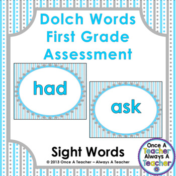 Dolch Sight Word  PowerPoint Assessment and Checklist (Fir