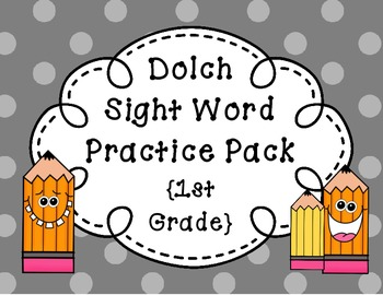 Dolch Sight Word Practice Pack {1st Grade}