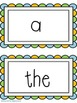 Dolch Sight Word (Pre-Primer) Word Wall
