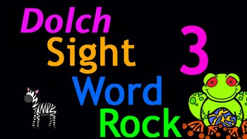 Dolch Sight Word Rock 3 Video (Dolch Sight Words 21-30)
