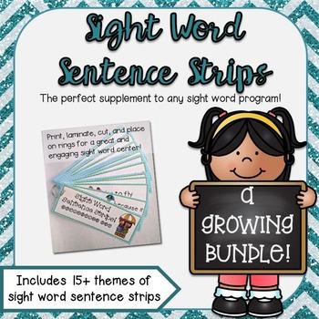 Sight Word Sentence Strips: A GROWING BUNDLE!
