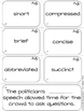 Dolch Sight Word Vocabulary BUNDLE {Shades of Meaning Syno