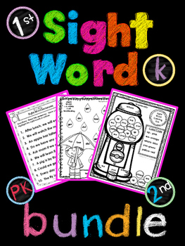 Dolch Sight Word Weekly Homework