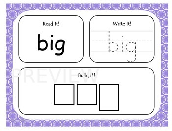 Dolch Sight Word Work Mats Bundle