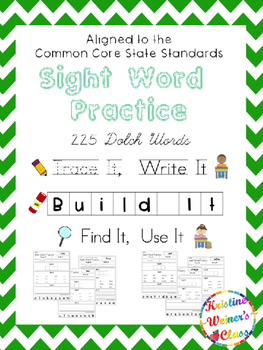 Dolch Sight Word Work Bundle {Trace It, Write It, Build It