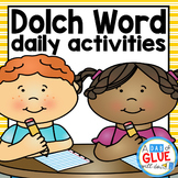 Dolch Sight Word Daily Worksheets