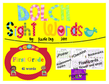 Dolch Sight Words 1st Grade [Bookmarks, Flashcards, Powerp