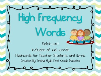 Dolch Sight Words 220 Flash Cards for Whole Group, Individ
