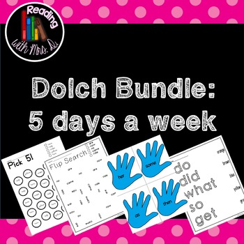 Dolch Sight Words: A Growing Bundle