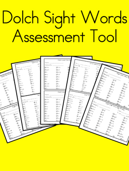 Dolch Sight Words - Assessment Tool