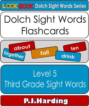 Dolch Sight Words Flashcards. Level 5 Third Grade Sight Words