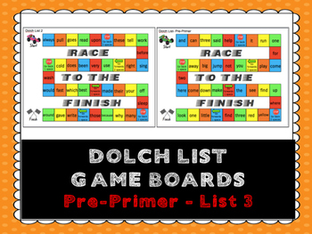 Dolch Sight Words Board Games