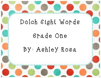 Dolch Sight Words Grade One