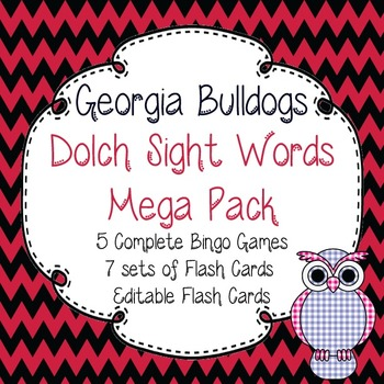 Dolch Sight Words Mega Pack-Flash Cards and Bingo-Georgia