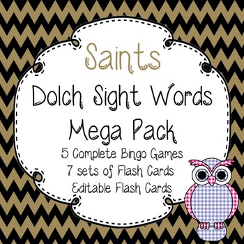 Dolch Sight Words Mega Pack-Flash Cards and Bingo-New Orle