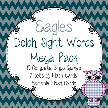 Dolch Sight Words Mega Pack-Flash Cards and Bingo-Philadel