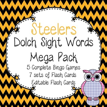 Dolch Sight Words Mega Pack-Flash Cards and Bingo-Pittsbur