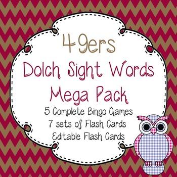 Dolch Sight Words Mega Pack-Flash Cards and Bingo-San Fran