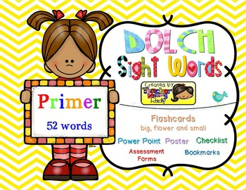Dolch Sight Words PRIMER [Bookmarks, Flashcards, Powerpoin