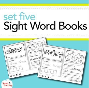 Dolch Sight Words Printable Books - Third Grade Set