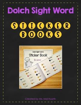 Sight Word Sticker Books