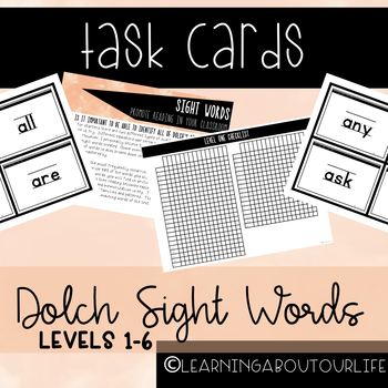 Dolch Sight Words--Task Cards
