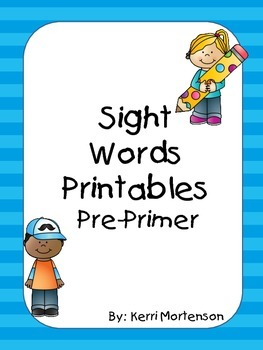 Dolch Sight Words Unit Pre-Primer Level
