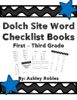 Dolch Site Word Checklists