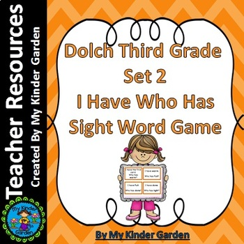 Dolch Third Grade Set 2 I Have Who Has Sight Word Game