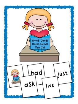 Dolch Word Card Game ~ Set 3 ~ Grade One Sight Words
