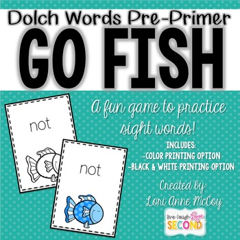 Dolch Word Go Fish! (PrePrimer)