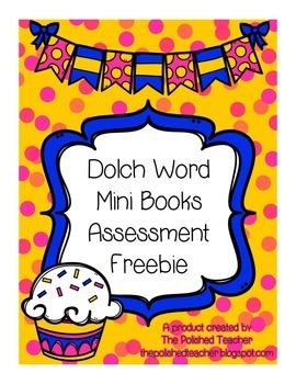 Dolch Word Mini Books Assessment Freebie