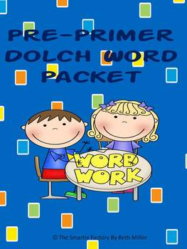 Dolch Word Packet with Games and Word Wall Words (Pre-Primer)