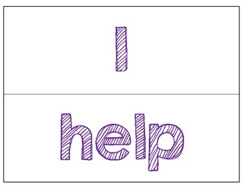 Dolch Word Wall Cards - KG Second Chances: Purple