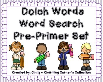 Dolch Word (Word Search ~ Pre-Primer Set)