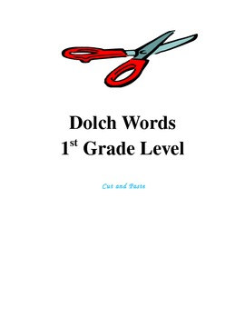 Dolch Words 1st Grade Level - Cut and Paste