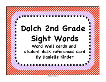 Dolch Words 2nd Grade Word Wall Cards
